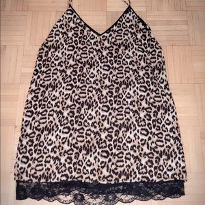 Forever 21 Leopard slip dress size small